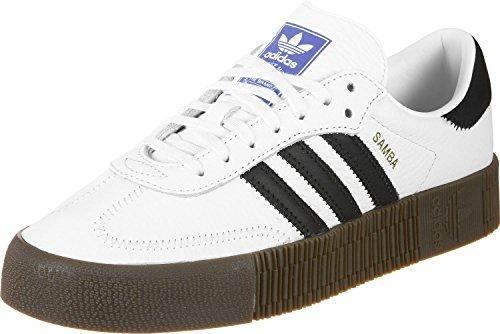 Adidas Sambarose, Zapatillas Clasicas Mujer, Blanco (Cloud White/Core Black/Gum5), 39 1/3 EU