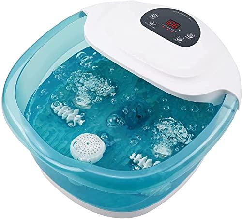 Masajeador de Pies Hidromasaje para Pies Spa/Baño con Agua Burbujas y Calor para Su Relajante y Rejuvenecimiento (Lago verde)