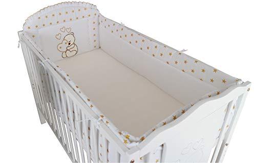 NESTCHEN babybed borduursel 420 cm. : BELLO :. 420 cm - für ein 70x140cm Bett goud