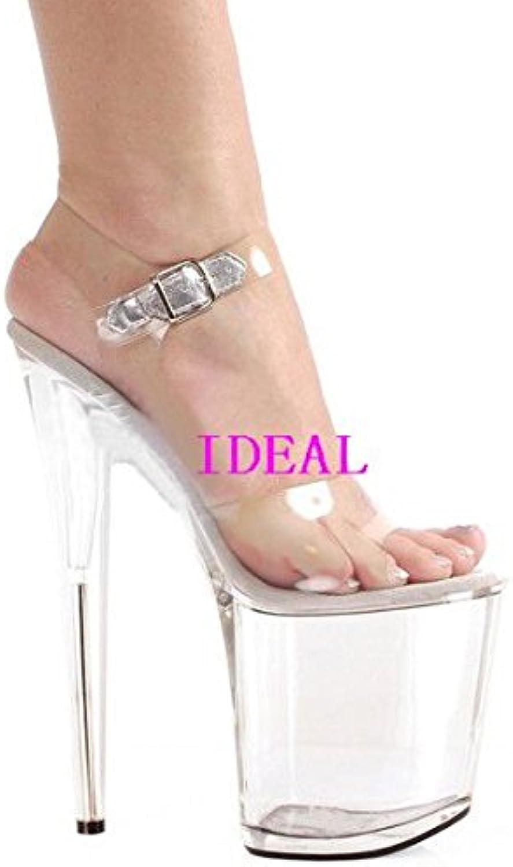 - high - heels 20 zentimeter transparente crystal Weiße schuhe sandalen,20 zentimeter