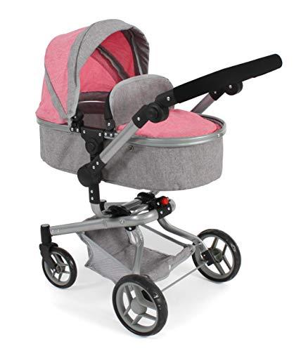 Bayer Chic 2000 593 57 Kombi-Puppenwagen Yolo, Melange pink