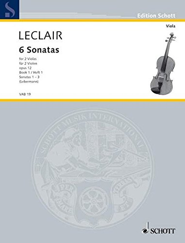 6 Sonatas, Op. 12, Volume 1:1-3: For 2 Violas - Performance Score