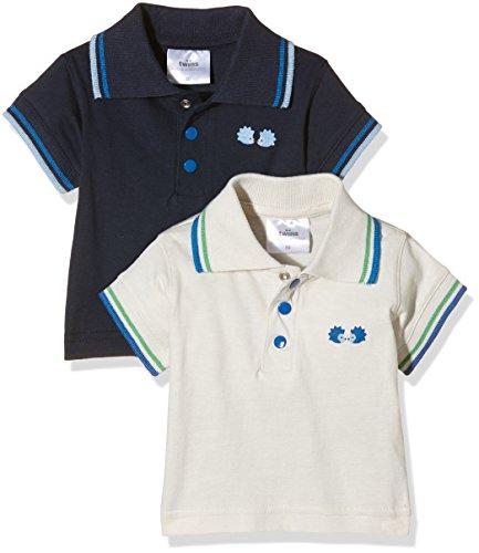Julius Hüpeden GmbH Twins Baby - Jungen Poloshirt im 2er Pack, Mehrfarbig (Mehrfarbig 5023), 62