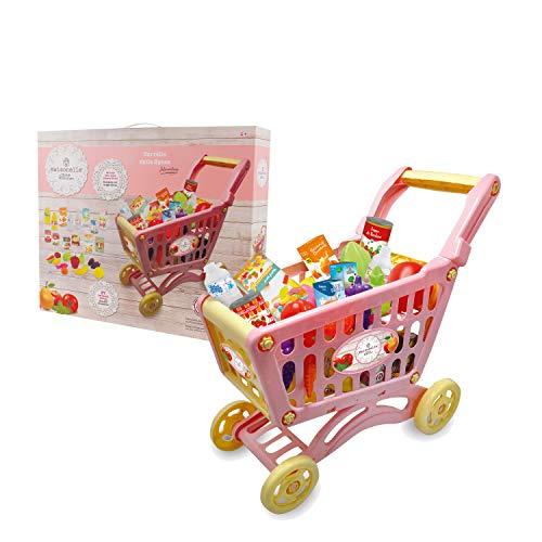 ODS Giocattolo Maisonelle Carrello della spesa con accessori, Colore Rosa, 44077