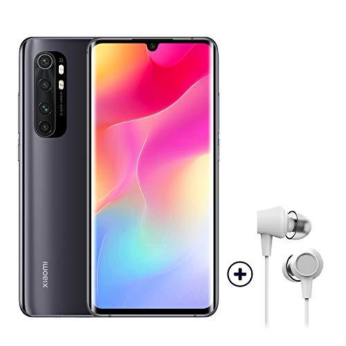 Xiaomi Mi Note 10 Lite Smartphone + Kopfhörer (16,43 cm (6,47″) FHD+ Display, 64GB interner Speicher, 6GB RAM, 64MP Rückkamera, 16MP Frontkamera, Dual-SIM, Android 10) Schwarz - [Exklusiv bei Amazon]