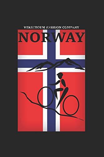 Wikstroem - Notes: Norwegen Berge Fahrrad - Notizbuch 15,24 x 22,86 kariert