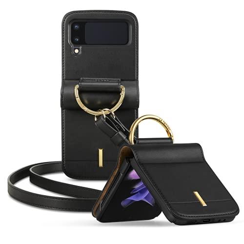 Spigen Lienar Hülle Kompatibel mit Samsung Galaxy Z Flip 3 5G -Schwarz