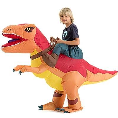 Inflatable Dinosaur Costume Kids Boys Girls, Inflatable Blow Up Costume Riding Trex Dinosaur Costume Child, Inflatable Ride On Dinosaur Halloween Costume Children from