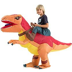 5. Hsctek Kid's Inflatable Ride-on Dinosaur Costume
