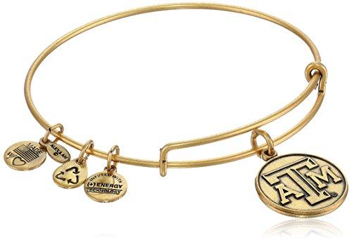 Alex and Ani 'Collegiate' University of Texas A&M Logo Expandable Rafaelian Gold-Tone Wire Bangle Bracelet
