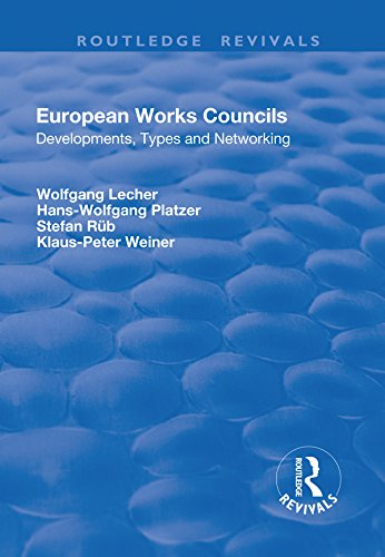 European Works Councils: Development, Types and Networking (Routledge Revivals) (English Edition)