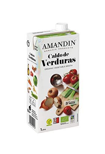 Amandin Caldo de Verduras - Paquete de 6 x 1000 ml - Total: 6000 ml