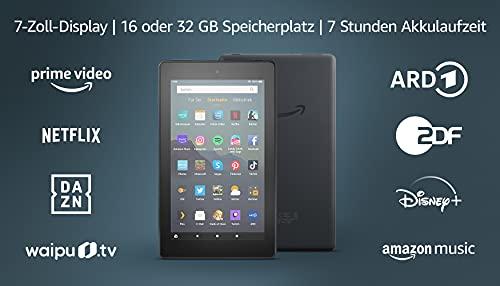 Fire 7-Tablet (7-Zoll-Bildschirm, 16 GB), Schwarz, Mit Werbung