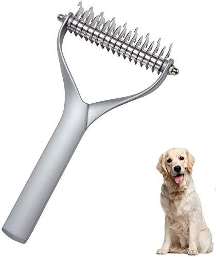 Xyfw Peine para Depilación De Peluquería Canina, Dientes De Peine De Acero...