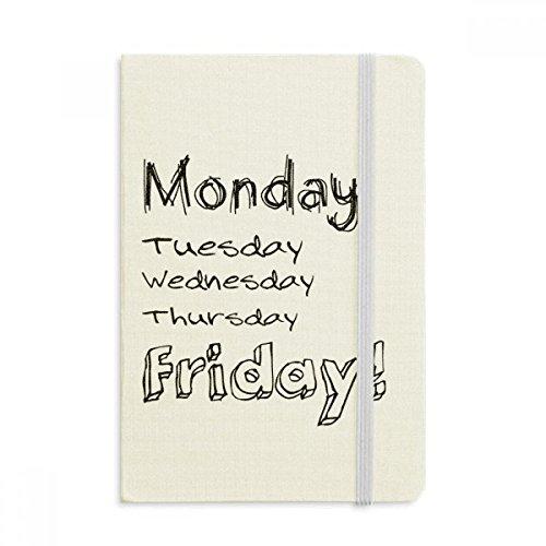 DIYthinker Montag bis Freitag Notebook Stoff Hard Cover Klassisches Journal Tagebuch A5 A5 (144 X 210mm) Mehrfarbig