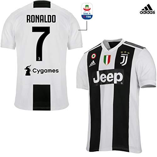 Juventus Maglia Ronaldo Gara Home Ufficiale 2018/19 - Originale - Bambino - Patch Scudetto e Coppa Italia Sempre Incluse - Taglia 140 cm 9/10 Anni - Patch Serie A