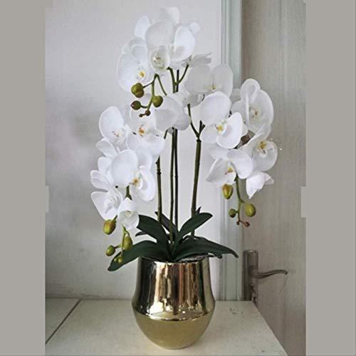 Ornament Figuur Puur Koper Europese Bloemen Sieraden, Vlinder Orchidee Vaas, Zachte Decoraties, Kunstbloemen Woonkamer Tv Kabinet Decoratie