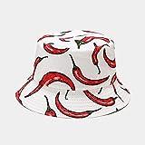 AOQW Sombrero De Pescador Sombrero De Pescador Reversible Dibujos Animados Verduras Sombreros De Cubo para Mujeres Hombres Calle Hip Hop Gorra De Cubo...