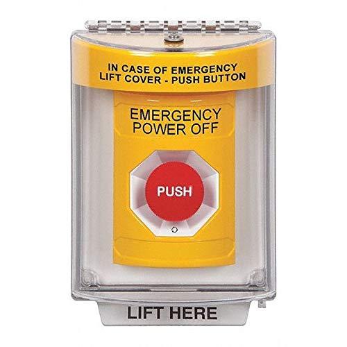 "Emergency Power Off Push Button, 2-7/8"" D"