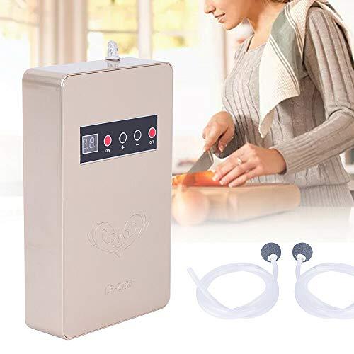Ozon - Macchine disintossicanti 600 mg/h, dispositivo digitale per ozono, in ABS tragba e generatore di ozono, 15 W, per sterilizzazione dell'aria ambiente, verdura, frutta