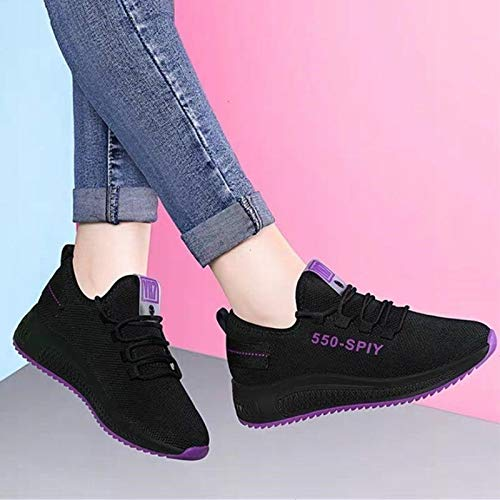 Nueva Primavera Y Otoño Viejo Beijing Buga Zapatos De Algodón De Terciopelo Zapatos Deportivos Antideslizantes Zapatos Casuales Cómodos Transpirables Corriendo Zapatos De Mujer 40 Peluche morado