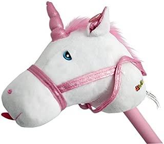 WALIKI TOYS Stick Unicorn | Stick Horse with Sound, White