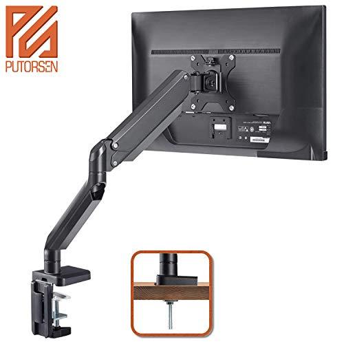 PUTORSEN® Support Écran PC Moniteur, Premium Aluminium Bras Articulé Ergonomique Ressort Gaz pour...