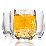 Plastic Wine Glasses acrylic glasses Tumbler Cups Set of 4 reusable Clear plastic glasses for adults,Party,Garden,Outdoors,Crystal Clear(Transparent)
