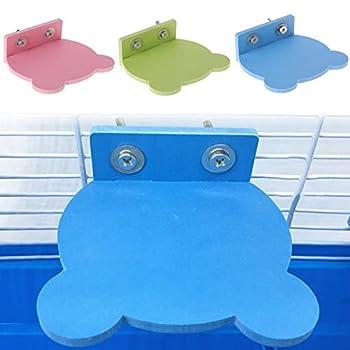 Perchoir à plateforme en PVC pour hamster, perroquet - Support pour jouets - Cage à suspendre - Qualité supérieure - Créatif - Utile et pratique
