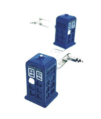 Manschettenknöpfe für Doctor Who Cabina TARDIS Police Box Cufflinks