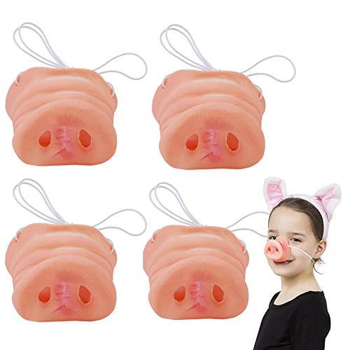 Vientiane Máscara de Nariz de Cerdo, con Banda Elástica, Máscara de Nariz de Cerdo, Accesorios de Disfraz de Lechón, Máscara Elástica de Nariz de Cerdo para Niños, Accesorios de Halloween