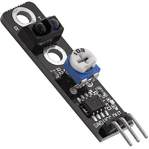 AZDelivery KY-033 Modulo para evitar obstáculos con seguidor de líneas infrarrojas TCRT5000 con E-Book incluido!