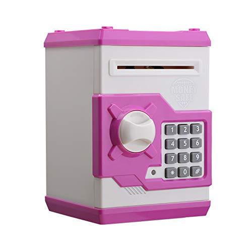 JSJJAET Hucha Electrónica Piggy Bank ATM contraseña Dinero en Efectivo Monedas Caja Caja de Ahorro de cajeros automáticos del Banco de Billetes Fuerte Caja Fuerte con Capacidad automática