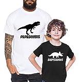Tee Kiki Saurus - Camiseta de Pareja Padre Hijo niño bebé Body cumpleaños - Look de Pareja