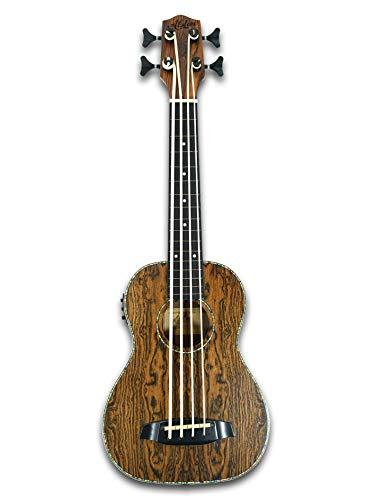 30' Fretless Electric Acoustic Ukulele Bass, satin Butterfly wood Body