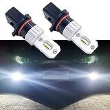 SageSunny p13w Led CanBus OBD bombilla a prueba de errores 1200lm 6000K iluminación blanca de xenón puro para luces antiniebla, luces de circulación diurna - 18 meses de garantía