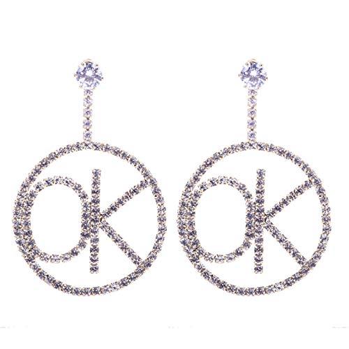 BAJIE Earring Drop Earrings Paved With Shiny Cz Stones Women'S Wedding Party Jewelry Earrings