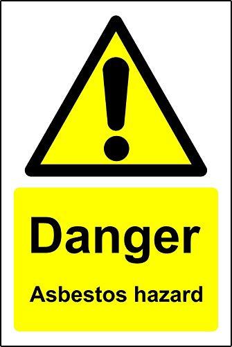 Waarschuwingsborden Gevaar asbest gevaar Veiligheidsbord - Zelfklevende sticker 400mm x 300mm