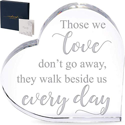 Wishmead Sympathy Gift Memorial Gifts Bereavement - Sympathy Gifts for Loss of Mother Glass Crystal Heart - in Memory of Loved One Loss of Father Husband Condolence Remembrance Grief Sorry Loving Mom
