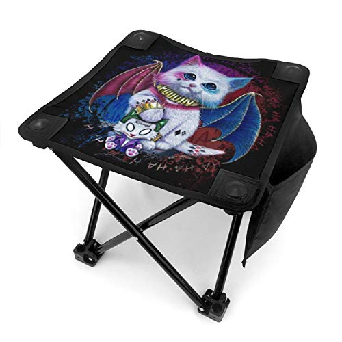 XY Shop Harley Quinn Cat Portable Outdoor Chair Camping Small Folding Camping Stool