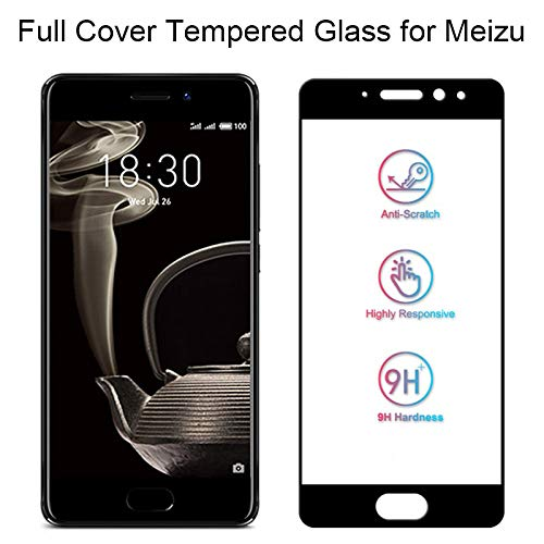 YswuJ (Paquete de 2 Vidrio Templado de Cubierta Completa para Meizu 15 Plus U10 U20 Pantalla de Cristal para Meizu Pro 5 6 Plus Lámina de Cristal en Meizu Pro 7 Plus Mx5 Mx6,para Meizu Pro 5,Blanco