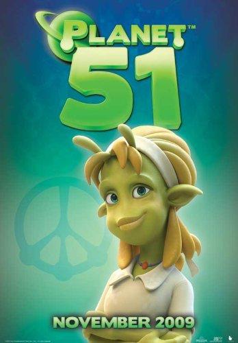 Planet 51 POSTER Movie (2009) Style M 11 x 17 Inches - 28cm x 44cm (Dwayne Johnson)(Jessica Biel)(Justin Long)(Gary Oldman)(Seann William Scott)(John Cleese)(Freddie Benedict)