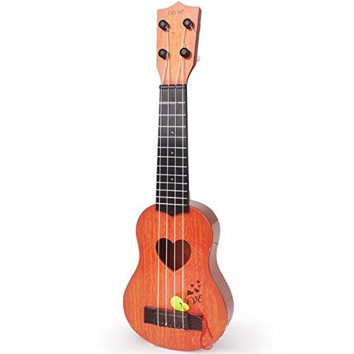 Zantec Kinder-Gitarre, Spielzeug zur musikalischen Früherziehung, Einsteiger-Gitarre zum Erlernen von Saiteninstrumenten 4Saiten für Kinder Geschenkidee Arancione