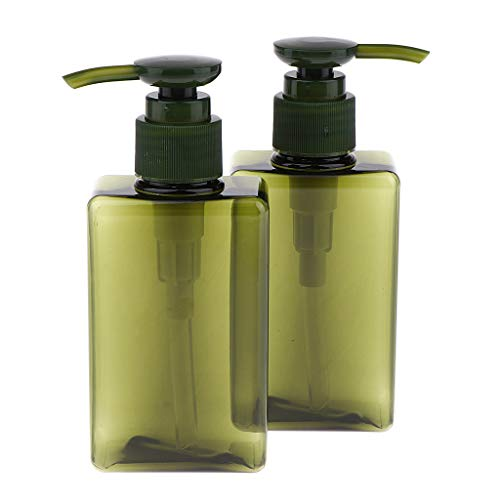 SDENSHI 2x 150 Ml Vide Shampooing Pompe Bouteille Contenant De Lotion Pour Les Mains Pour Recharge Cosmétique - Vert