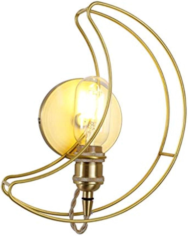 Wandleuchte Wandlampe Nordic Wandleuchte, Einfache Gold LED Mond Zahn Wandleuchte, Kreative Dekoration Wohnzimmer Nachttischlampe