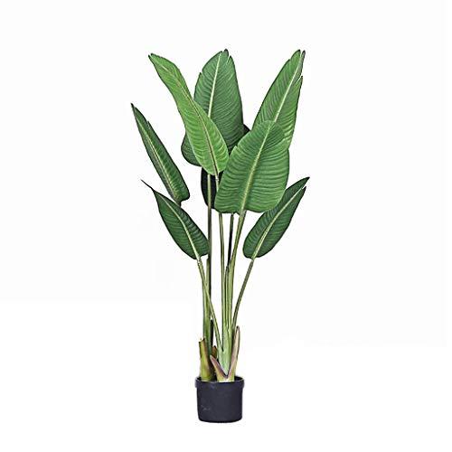 """BOWCORE 59"""" Planta de Tiesto Palmera Ave del paraíso Palm viajeros árbol Artificial En Base de 6"""