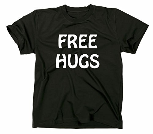 Free Hugs Fun T-Shirt, M, schwarz
