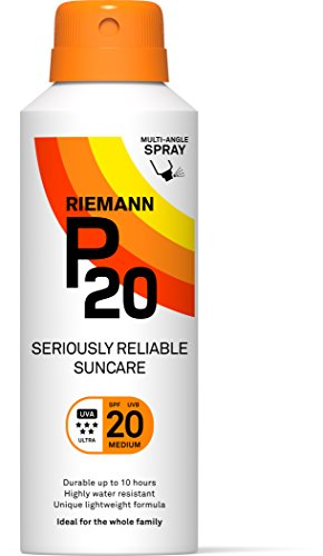 Riemann P20 Sunscreen SPF20 Multi-angle Spray 150ml | Long Lasting UVA & UVB Protection for up to 10 hours | Highly Water Resistant