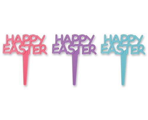 CakePicke cake cupcake topper Happy Easter Cupcake Picks - 12 Ct