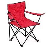 Silla plegable para acampar al aire libre, silla de jardín portátil, diseño ligero reclinable con portavasos, perfecto para ir a la playa, tomar el sol, pesca, fiesta, viajar y barbacoa en verano